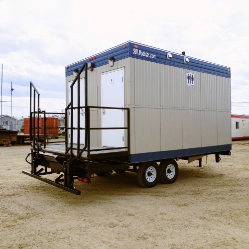 11x16 Self Contained Wheeled Lavatory